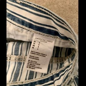 American Eagle Outfitters Shorts - American Eagle Blue Striped Denim Shorts NWOT
